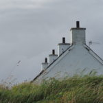 slate chimneys on Easdale island